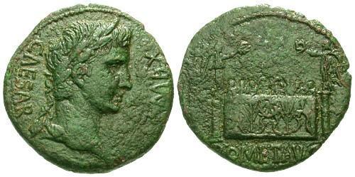 Ancient Coins - VF/VF Augustus AE AS / Altar as Lugdunum