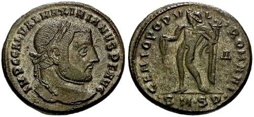 Ancient Coins - EF/EF @@Failmezger Collection@@ Galerius as Augustus Silvered Follis / Genius