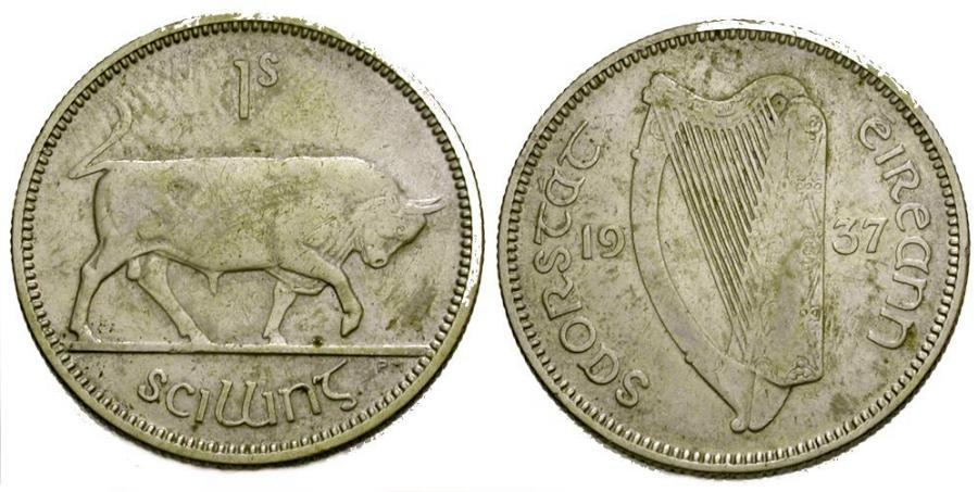 Ancient Coins - Ireland AR Shilling