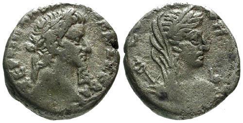 Ancient Coins - VF/aVF Galba Billon Tetradrachm Egypt Alexandria / Eirene