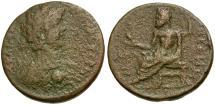 Ancient Coins - Caracalla. Megaris. Megara Æ 2 Assaria / Zeus Seated