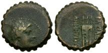 Ancient Coins - Seleukid Kings of Syria. Demetrios I Royal Æ25 Serrate / Tripod