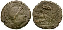 Ancient Coins - 214-212 BC - Roman Republic. Anonymous Æ Uncia / Grain Ear