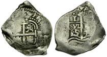 World Coins - Bolivia. Philip IV AR 1 Real Cob