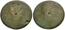 Ancient Coins - Octavian and Divus Julius Caesar Æ Dupondius