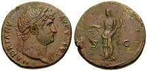 Ancient Coins - VF/aVF Hadrian Æ Sestertius / Aequitas