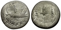 Ancient Coins - Roman Imperatorial. Mark Antony AR Denarius / Legion X