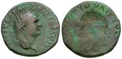 Ancient Coins - Titus (AD 79-81) Æ AS / Brockage