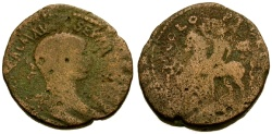 Ancient Coins - F/F Severus Alexander, Phoenicia, Akko-Ptolemais Æ23 / Emperor on Horseback