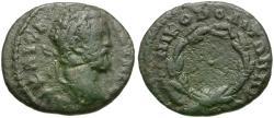 Ancient Coins - Septimius Severus (AD 193-211). Moesia Inferior. Nikopolis ad Istrum Æ17 / Wreath