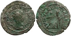 Ancient Coins - Quietus (Usurper) Silvered Antoninianus / Indulgentia Seated