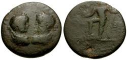 Ancient Coins - Septimius Severus and Caracalla, Phoenicia, Berytus Æ21 / Poseidon