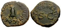 Ancient Coins - Claudius Æ Quadrans / Modius