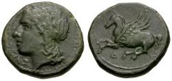 Ancient Coins - Sicily. Syracuse. Agathokles Æ18 / Pegasus