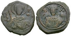 Ancient Coins - *Sear 1980* Byzantine Empire. Manuel I Comnenus (AD 1143-1180) Æ Tetarteron / St. George