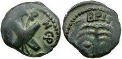 Ancient Coins - Judaea. Roman Procurators. Antonius Felix Æ Prutah / Crossed Shields and Spears
