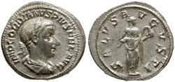 Ancient Coins - Gordian III AR Denarius / Salus