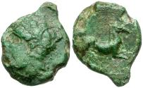 Ancient Coins - Sicily. Carthaginians in Sicily. Siculo-Punic Æ18 / Horse