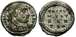 Ancient Coins - Licinius I Silvered Æ3 / Wreath