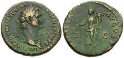 Ancient Coins - Domitian (AD 81-96) Æ AS / Moneta