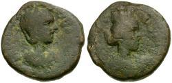 Ancient Coins - Herennia Etruscilla. Samaria. Caesarea Maritima Æ20 / Lindgren Plate Coin