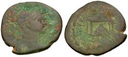 Ancient Coins - Trajan (AD 98-117). Seleucia and Pieria Æ27 / Sacred Stone in Temple
