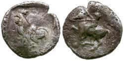 Ancient Coins - Troas. Dardanos AR Obol / Rooster