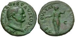 Ancient Coins - Vespasian (AD 69-79) Æ AS / Aequitas