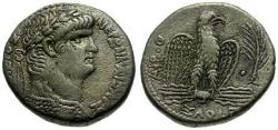 Ancient Coins -  Nero. Seleucis and Pieria. Syria Antioch AR Tetradrachm / Eagle
