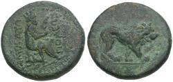 Ancient Coins - Commagene. Samosata. Pseudo-Autonomous Issue Æ25 / Lion
