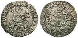 World Coins - Italian States. Naples and Sicily. Roberto d'Angio (AD 1309-1343) AR Gigliato