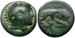Ancient Coins - Kings of Macedon. Perdicas III Æ16 / Lion