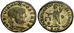 Ancient Coins - VF/EF Galerius as Caesar Silvered Follis / Moneta