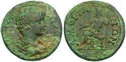 Ancient Coins - Geta (AD 198-209). Phrygia. Amorium Æ26 / Zeus Seated