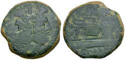 Ancient Coins - 169-158 BC - Roman Republic. Anonymous Æ AS / BAL