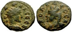 Ancient Coins - Trajan Decius, Mesopotamia Edessa Æ18 / Bust of Tyche