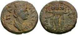Ancient Coins - Phrygia. Apameia. Pseudo-autonomous Æ16 / Hecate Triformis