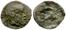 Ancient Coins - Thrace. Thasos AR Tritartemorion / Dolphins