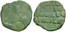 Ancient Coins - *Sear 1818* Byzantine Empire. Anonymous. Class A3 Follis / Portrait of Christ