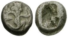 Ancient Coins - Persian Empire, Achaemenids, Time of Darius II-Artaxerxes III AR 1/4 Siglos