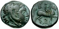 Ancient Coins - Kings of Macedon. Antigonas II Gonatas Æ17 / Youth on Horseback