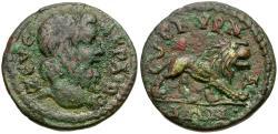 Ancient Coins - Ionia. Smyrna. Pseudo-autonomous Æ18 / Lion