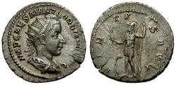 Ancient Coins - Gordian III AR Antoninianus / Virtus