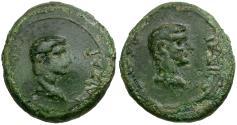 Ancient Coins - Germanicus with Drusus Caesar. Mysia. Pergamum Æ17