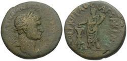 Ancient Coins - Trajan (AD 98-117). Judaea. Samaria. Caesarea Maritima Æ25 / Emperor Sacrificing
