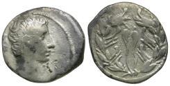 Ancient Coins - Augustus (27 BC-AD 14) AR Denarius / Rostral Crown