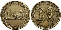 World Coins - England. Middlesex. London. R.Warren Æ Farthing