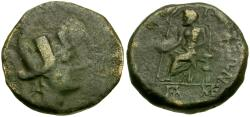 Ancient Coins - Cilicia. Tarsos Æ21 / Zeus Seated