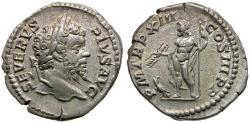 Ancient Coins - Septimius Severus (AD 193-211) AR Denarius / Jupiter