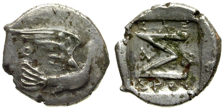Ancient Coins - Peloponnesus Sikyon AR Hemidrachm / Dove